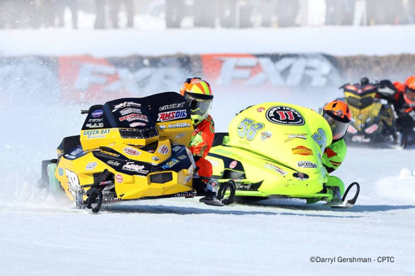 Refurbished snowmobile parts used for snowmobile racing