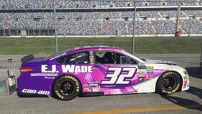 US Chrome sponsores the #32 E.J. Wade car at Daytona 500